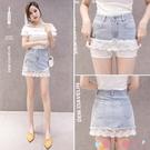超短裙2021夏季新款時尚設計感小眾網紗牛仔氣質a字半身裙短裙女夏褲裙 愛丫