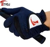 設計師美術精品館TYGJ正品 高爾夫手套 男款 超纖布手套 柔軟耐磨 透氣 男士布手套