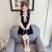 女童春裝連身裙春季新款童裝兒童韓版洋氣公主裙蕾絲雪紡裙子 全館免運