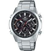 【台南 時代鐘錶 CASIO】EDIFICE 宏崑公司貨 EQW-T650D-1A 太陽能電波 賽車風格運動腕錶