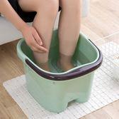 日式足浴盆腳底按摩滾輪泡腳桶 家用塑料洗腳盆大號足浴桶