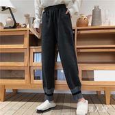 闊腿褲女秋冬加厚寬鬆韓直筒百搭毛呢褲子 FR3185『男人範』