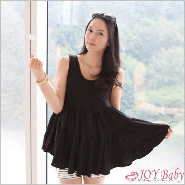 孕婦裝韓版全棉孕婦背心裙無袖上衣娃娃裝-JoyBaby