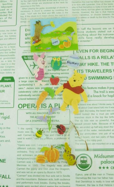 【震撼精品百貨】Winnie the Pooh 小熊維尼~立體貼紙-瓢蟲