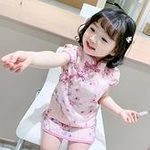 兒童旗袍 女童旗袍兒童夏季小童中國風漢服洋氣連身裙女寶寶復古風唐裝公主 嬡孕哺 免運