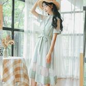雙十一大促 小個子法式網紗裙夏洛麗塔日常仙氣森女系少女極簡主義刺繡連衣裙 艾尚旗艦店