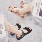 涼鞋女夏平底女百搭韓版學生潮chic鞋子網紅女士厚底涼鞋 極有家
