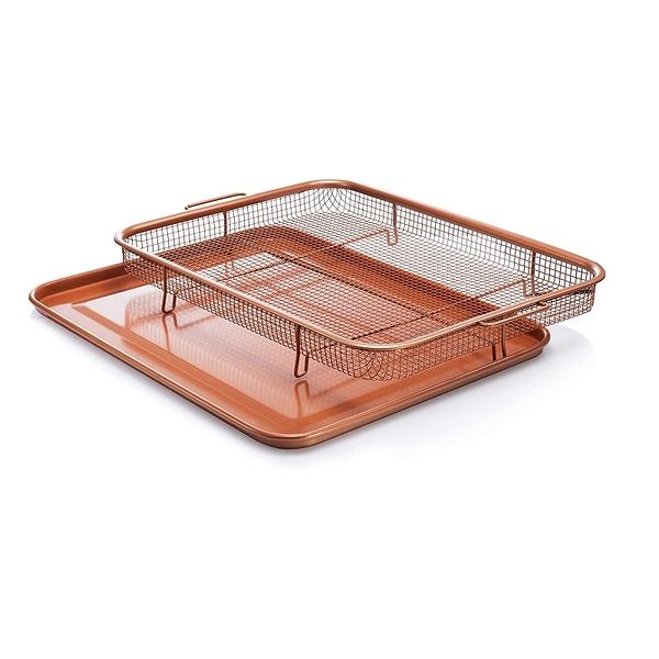 Gotham Steel 不沾烤盤 1421 Nonstick Copper Crisper Tray - AIR FRY IN YOUR OVEN [2美國直購]