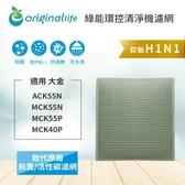 大金 ACK55N、MCK55N、MCK55P、MCK40P 加濕空氣清淨機濾網【Original life】全新加強版