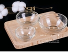玻璃面膜碗調膜碗精油碗沙拉碗透明玻璃碗環保DIY面膜工具多號可選口徑口徑7.5cm, 高3.46cm(中)