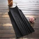 東京奈奈日系森林系棉吊帶打底內搭連身裙[j02556]