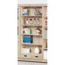 【森可家居】法克橡木2.6尺下抽開放書櫃 8SB236-3 書櫥 收納 木紋質感  無印北歐風 MIT台灣製造