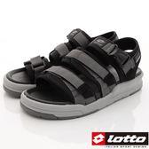 【LOTTO】避震Q彈涼鞋款-LT7AMS5260-灰黑-男段-0