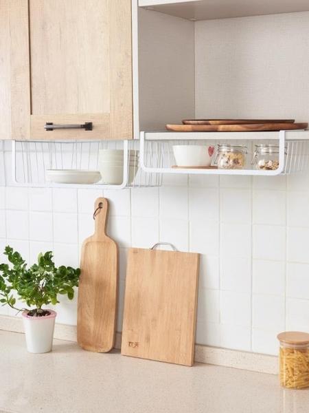 廚房收納架整理架 創意滿屋吊櫃下掛籃櫃子隔板分層架 櫥櫃置物架 滿天星