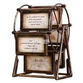 臥室裝飾品 創意歐式摩天輪酒柜復古家居客廳房間臥室電視柜小擺設 卡菲婭