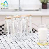 日式簡約杯架 茶水杯酒杯收納架玻璃杯瀝水架手提杯子掛架水杯架