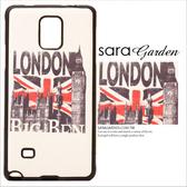 24H 韓系彩繪貼皮英國倫敦國旗塗鴉軟殼手機套保護套三星NOTE 4 Sara Garden 【C0406002 】