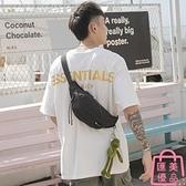胸包男士腰包側背包休閑運動包帆布包斜背包【匯美優品】