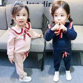 女寶寶套裝一二三四歲女童純棉兒童兩件套「Chic七色堇」