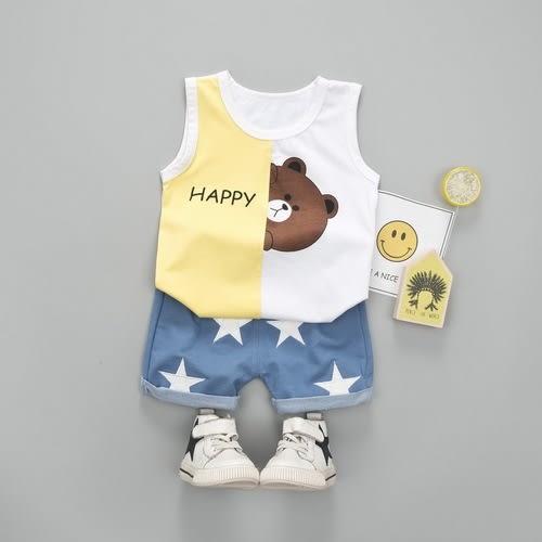 嬰兒短袖套裝 卡通背心+短褲 寶寶童裝 YN4645 好娃娃
