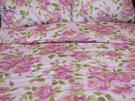 碧多妮寢飾-玫瑰金邊花朵-60支紗精梳綿-加大被套-[P2249]