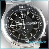 【萬年鐘錶】CITIZEN  OXY黑面/三眼時尚計時錶 AN3370-57E