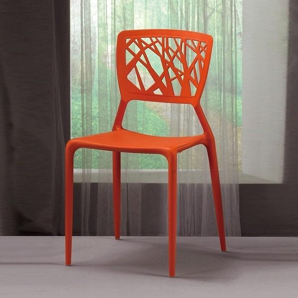 珍尼絲造型椅(橙)(21CM/1072-13)/H&D東稻家居