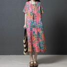 洋裝 連身裙 夏季新款民族風女裝大碼寬鬆...