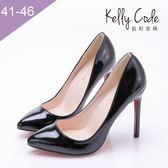 大尺碼女鞋-凱莉密碼-女神級夜店性感淺口尖頭細跟高跟鞋11.5cm(41-46)【ME011】