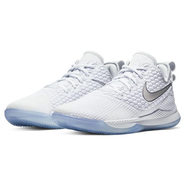 ▲Nike 籃球鞋 LeBron Witness III EP 三代 白 銀 James 運動鞋 男鞋 AO4432-101