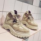 春季男鞋英倫風馬丁靴軍靴工裝高幫短靴韓版百搭潮沙漠潮男靴子 嬌糖小屋 嬌糖小屋