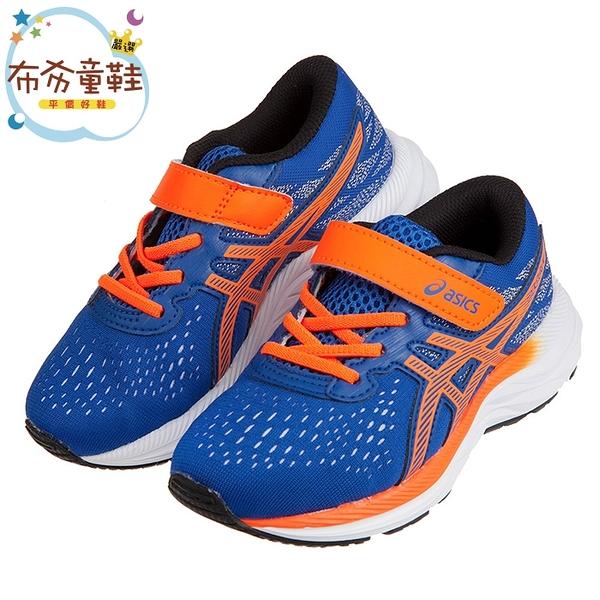《布布童鞋》asics亞瑟士EXCITE系列寶藍透氣兒童機能運動鞋(17.5~22公分) [ J0Y115B ]
