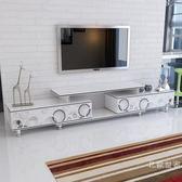 客廳鋼化玻璃伸縮電視櫃茶幾組合套裝小戶型現代簡約迷你伸縮地櫃WY促銷大減價!
