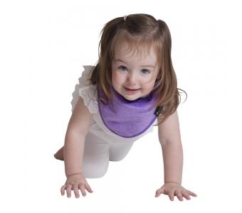 紐西蘭 Mum 2 Mum 機能型神奇三角口水巾圍兜-紫 吃飯衣 口水衣 防水衣