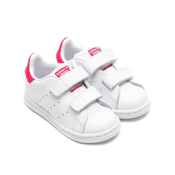 Adidas Stan Smith Kids Infants 白紅 童鞋 魔鬼氈 B32704【GT Company】