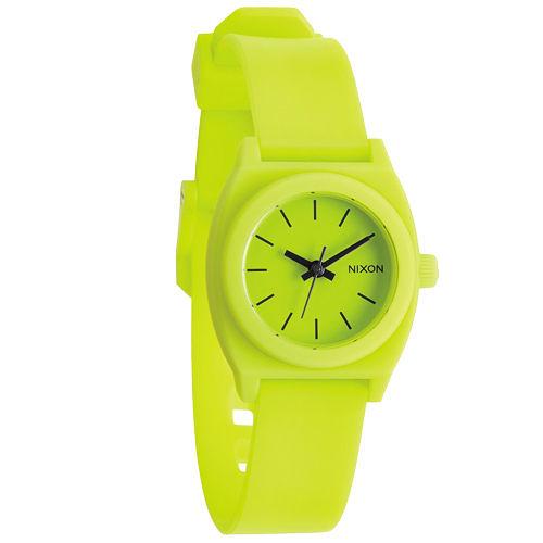 NIXON TIME TELLER P 躍動普普個性腕錶-檸檬黃/小