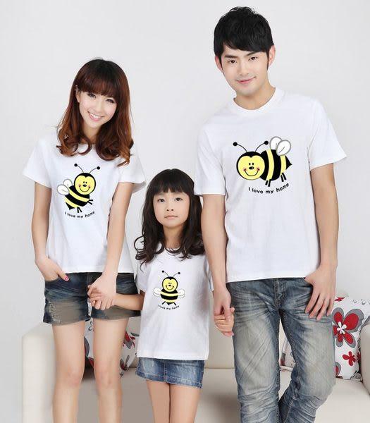 *甜蜜蜜親子童裝*★韓版YI-S02★ 《可愛小蜜蜂》短袖親子裝♥情侶裝