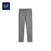 Gap男裝 彈力緊身磨毛斜紋布長褲497813-深煙灰色