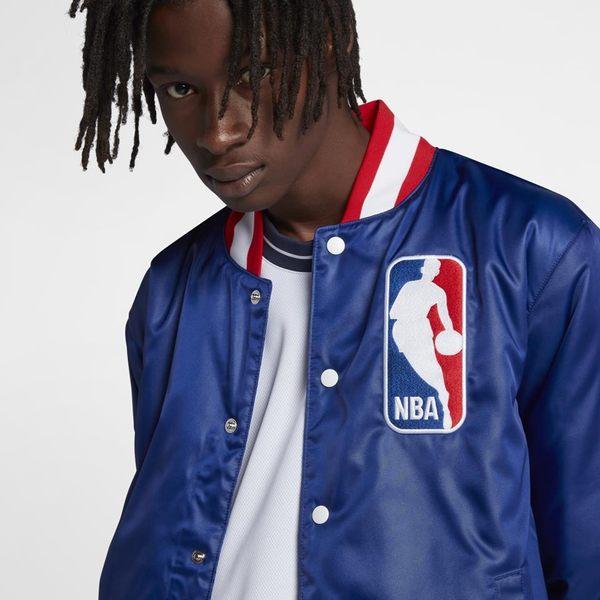 NIKE服飾系列AS M NK SBXNBA JACKET BOMBER-男款NBA深藍棒球風衣外套-NO.AH3393455