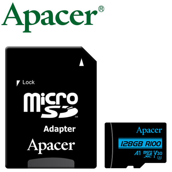 Apacer 宇瞻 128GB 128G 100MB/s microSDXC TF A1 U3 V30 記憶卡
