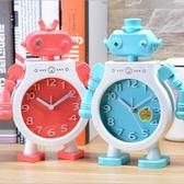 機器人兒童鬧鐘模型臥室床頭學生現代臺鐘【聚寶屋】