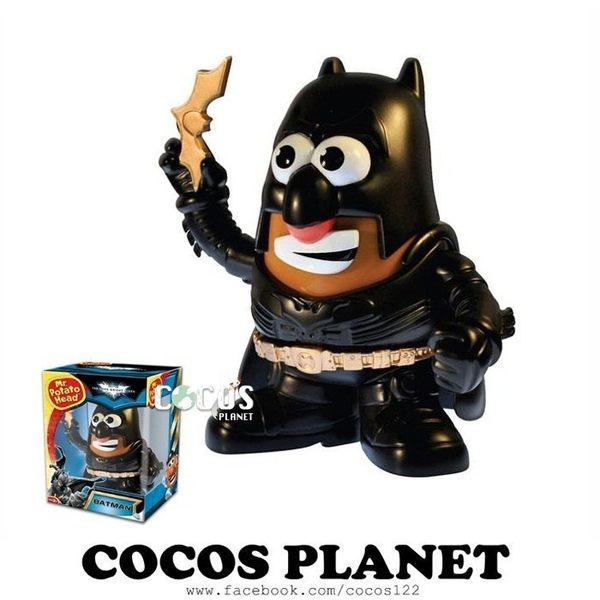 正版 Playskool 蛋頭先生DC英雄 黑暗騎士蝙蝠俠 公仔玩具組 COCOS TG559