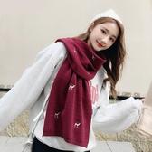韓版圍巾女秋冬季百搭保暖加厚可愛針織毛線純色小披肩兩用圍脖男 優拓