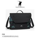 【愛瘋潮】WilliamPOLO 大容量側背郵差包(斜紋) 手提 / 肩背 / 斜背 三用平板電腦公事包