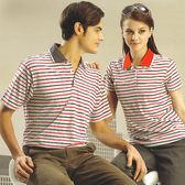 日本名牌 Kawasaki  男女棉質電腦條紋短POLO衫-紅灰#K2211A-#KW2211A