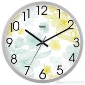 靜音清新鐘錶掛鐘客廳臥室時尚創意大掛錶現代時鐘石英鐘B717艾美時尚衣櫥