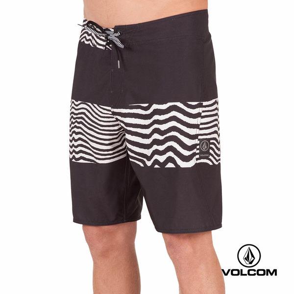 VOLCOM MOD-TECH 海灘褲- 黑x 1/2 Meg Vibes 條紋