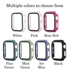手錶保護殼 適用於Apple Watch 3 4 5 6 SE 蘋果手錶PC硬殼+滿版保護貼 38 40 42 44mm