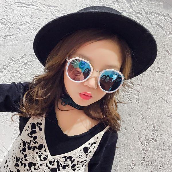 兒童眼鏡墨鏡男童女童太陽鏡潮小孩眼鏡