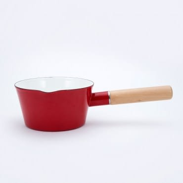 HOLA La Vie 琺瑯牛奶鍋 15cm 紅色款